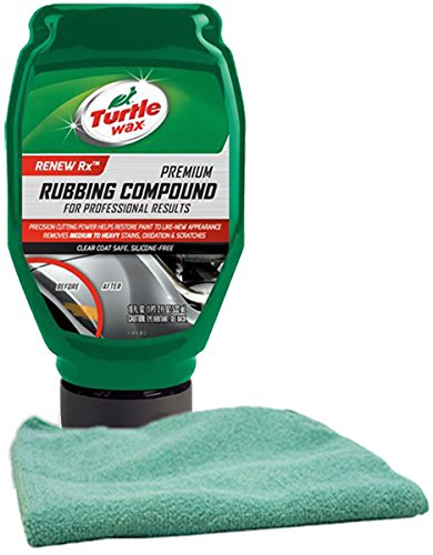 Turtle Wax Premium Rubbing Compound 18 oz & Microfiber Cloth Kit