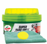 Turtle Wax Super Hard Shell Paste Wax (14 oz.), Microfiber Cloth & Foam Pad Kit