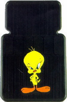 Tweety Bird With Attitude Rubber Car Floor Mats (Pair)