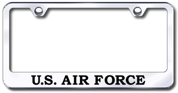 US Air Force Laser Etched Stainless Steel License Plate Frame