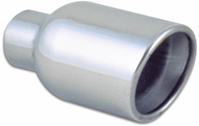 Vibrant Stainless Steel Round Exhaust Tips Weld-On