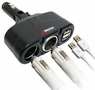 Wagan 12V Twin USB & DC Sockets Travel Adapter