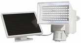 White Solar-Powered Motion-Activated 80 LED Security Light
