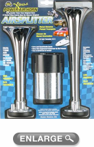 Wolo Airsplitter Dual Tone Metal Chrome Air Horn