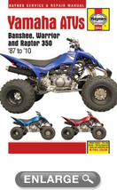 Yamaha Banshee, Warrior, & Raptor Haynes Repair Manual (1987-2010)