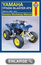 Yamaha YFS200 Blaster ATV Haynes Repair Manual (1988 - 2006)