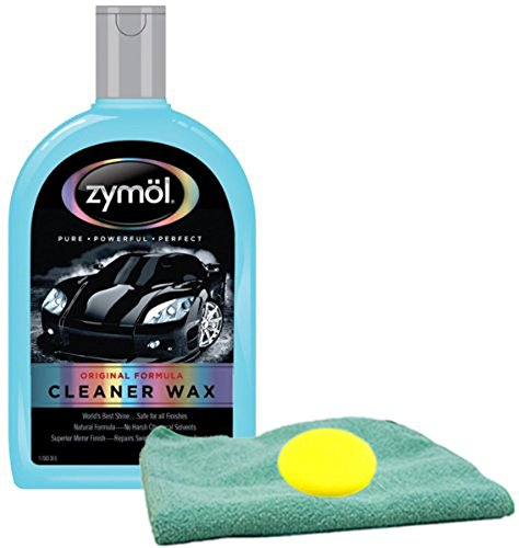 Zymol Natural Liquid Cleaner Wax 16 oz Microfiber Cloth & Foam Pad Kit