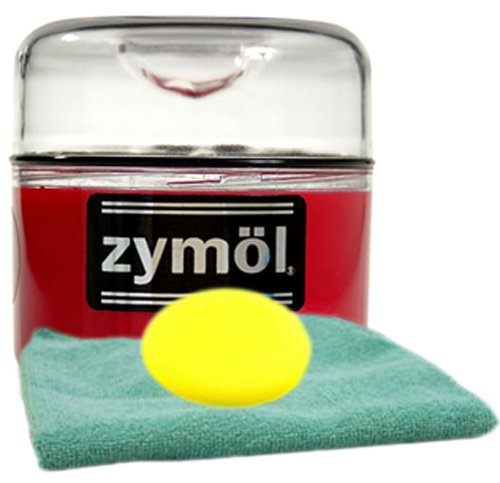 Zymol Rouge Red Wax 8 oz Microfiber Cloth & Foam Pad Kit