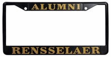 Alumni Black License Plate Frame