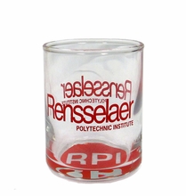 Bottoms Up Shot Glass with Rensselaer and RPI Bullet