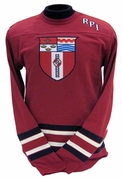 Champion Heritage Hockey Stripe Crew with Shield and RPI