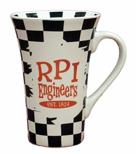 Checkerboard Bristol Mug with RPI Engineers