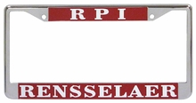 Chrome RPI & Rensselaer License Plate Frame