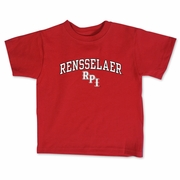 College Kids Infant Red Tee with Rensselaer and RPI