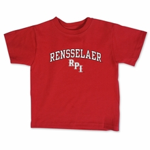 College Kids Toddler Red Tee with Rensselaer and RPI