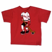 College Kids Toddler Tee with Hockey Player