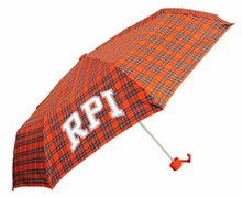 Compact Plaid Umbrella with RPI