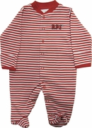 Creative Knitwear Infant Striped Footed Romper with RPI