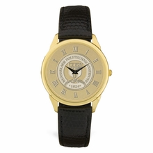 CSI Men's Black Leather Strap Wristwatch