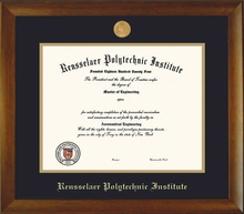 Diploma Frame - Bamboo with School Seal Medallion