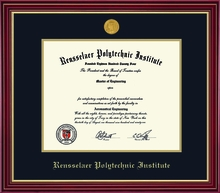Diploma Frame - Regal with School Seal Medallion