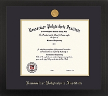 Diploma Frame - Spirit with School Seal Medallion