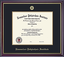 Diploma Frame - Windsor with Embossed School Seal