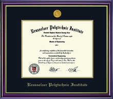Diploma Frame - Windsor with School Seal Medallion
