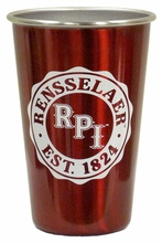 Dundee Stainless Pint with Rensselaer and RPI