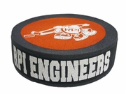 Foam Hockey Puck Hat with RPI Engineers and Puckman