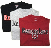 Jansport Tee with Rensselaer and Three Color School Seal