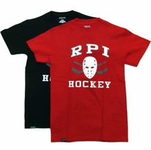 Jansport Tee with RPI Hockey, Mask and Crossed Sticks