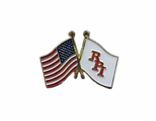 Lapel Pin with American and RPI Flags