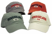 Legacy Washed Twill Cap with Rensselaer and 1824 Oval