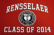 MV Sport Sweatshirt Blanket with Rensselaer and Class of 2014