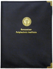 Pad Folio with Seal and Gold Rensselaer Polytechnic Institute