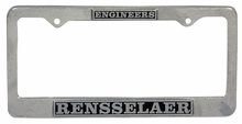 Pewter Engineers License Plate Frame