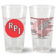 Pint Glass - RPI Campus Concerts of the 1960's