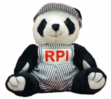 Plush Beanie Panda with RPI Engineering Outfit
