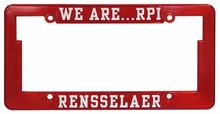 "Reflective ""We Are RPI"" License Plate Frame"