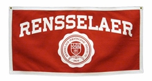 Rensselaer Banner with School Seal