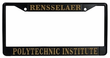 Rensselaer Black License Plate Frame