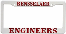Rensselaer Engineers Red and White License Plate Frame
