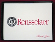 Rensselaer Thank You Cards and Envelopes