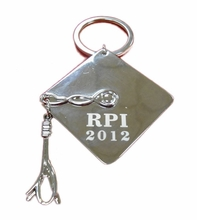 RPI Class Year Graduation Cap Key Ring