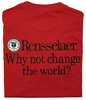 "Russell Tee with ""Why Not Change the World?"""