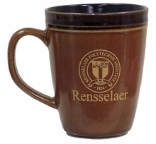 Russet Brown Coffee Mug with School Seal