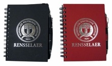 Spiral Bound Notebook with School Seal and Pen
