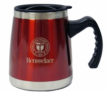 Squat Handle Mug with School Seal & Rensselaer