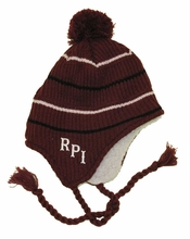 Top of the World Maroon Flap Hat with RPI